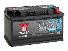 YUASA Stop Start  12v 115 AGM Car Battery 4 Year Warranty - EK800 YBX9115