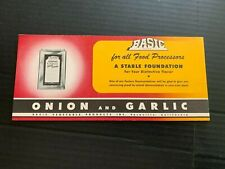 Vintage Basic Vegetable Products Advertising Blotter