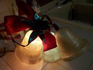 Vintage Noma Lites Illuminated 3 Bell Cluster Christmas With Box