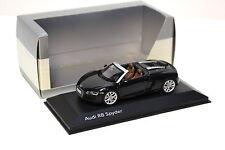 1:43 schuco AUDI r8 v10 spyder Black dealer New chez premium-MODELCARS