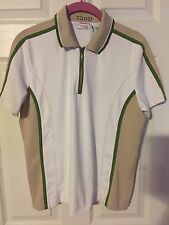 Golf Shirt Top by Izod XFG LARGE CoolFX 1/3 Zipper Collar Sleeves Stretch Soft