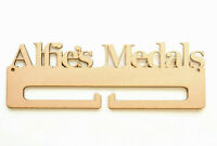 Wooden Medal Holder 4mm MDF Personalised Medal Holder add your Own Name