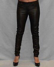 Authentic William Rast Leather Black Legging Pants Size 25