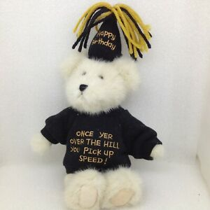 """Boyds Bears U R Old Plush Bear Over the Hill Birthday 9"""" Stuffed Jointed"""