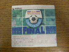 23/04/1995 Ticket: Football League [Auto Windscreens Shield] Trophy Final, Birmi