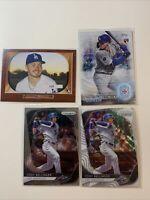 2019-20 Los Angeles Dodgers 4 Card Lot - Cody Bellinger Gavin Lux Topps Prizm