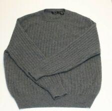T. Edwards Classic Menswear 100% Cashmere Sweater Gray Size XL