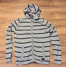 Ben Sherman Men's Cotton Sweater Hoodie Hood Full Zipper Small Grey