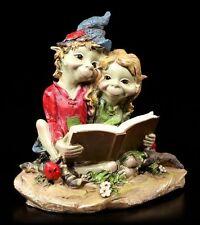 Pixie Figur - Pärchen liest in einem Buch - Anthony Fisher Gnome Kobolde