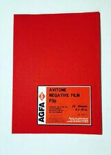 AGFA 8 x 10in film. 25 sheets ortho B/W continious tone negative. AVITONE p3p