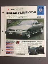 "1994 > NISSAN SKYLINE GT-R IMP ""Hot Cars"" Spec Sheet Folder Brochure #3-28"