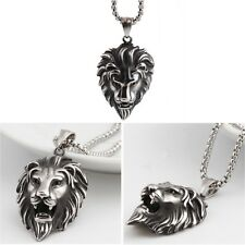 Men's Unique Stainless Steel Hip Hop Lion Head Pendant Necklace Jewellery Gift