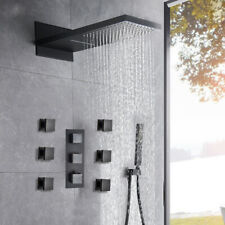 Thermostatic Shower Faucet Waterfall&Rain Massage Body Jet  Oil Rubbed Bronze