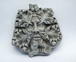 Green Man Reproduction Medieval Stone Effect Cathedral Carving Pagan Gothic Gift