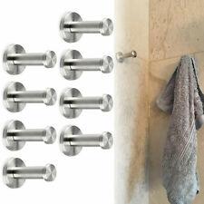8*Stainless Steel Wall-Mount Robe Hook Coat Fresh Towel Wall Hook Brushed Nickel