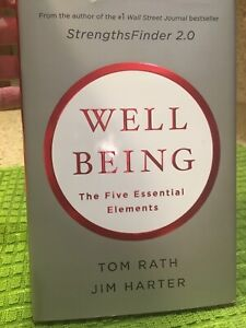 """Reduced! Signed copy """"Wellbeing : The Five Essential Elements"""" - Rath & Harter"""