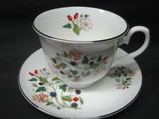 Sheltonian Fine English Bone China Tea Cup & Saucer Set  HEDGEROW