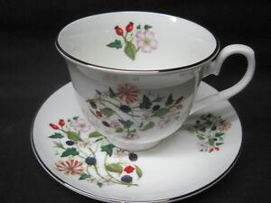 Sheltonian Fine English Bone China Tea Cup & Saucer Set  HEDGEROW