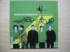 """Motion City Soundtrack - This Is For Real PART 2 7"""" cover + promo card signed"""