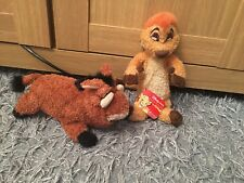 TIMON and PUMBAA plush Teddy soft toy Small THE LION KING Disney Store Exclusive