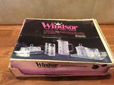 """Windsor """"Top O' The Table"""" Crystal  Federal Glassware 9 pc Serve All Set T1087"""