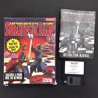 "Vintage Apple Macintosh STRATEGIC LEAP Big Box video game 3.5"" disk manual"