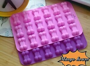 18 Cute Cavity Dog Bone Silicone Cakes Mould Mold Chocolate Biscuit Ice Cube