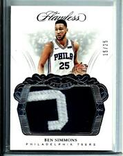 2017-18 Panini Flawless Game Worn Material Ben Simmons Rookie SP D # 15/25 76ers