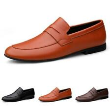 New Men Business Leisure Leather Shoe Pointy Toe Oxfords Slip on Low Top Party D