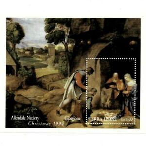 VINTAGE CLASSICS - Sierra Leone 1760 - Christmas 1994 - Souvenir Sheet - MNH