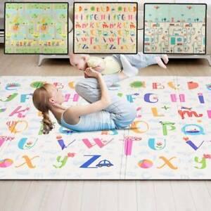 2SIDE BABY KIDS PLAY MAT CRAWLING SOFT PICNIC FOLDABLE CARTOON WATERPROOF CARPET