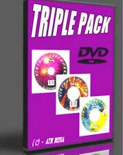 PLASMA TV VIRTUAL AQUARIUM & LOG FIRE, FIREWORKS 3 DVDS, REALISTIC, RELAXING NEW