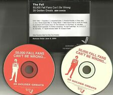 THE FALL 50,000 Fall Fans Can't Be wrong 2 CD ADVNCE PROMO DJ CD USA MINT 2004