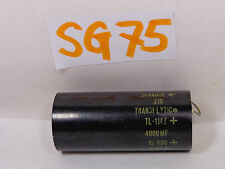 VINTAGE ELECTRONIC PART SPRAGUE 4000 MFD CAPACITOR TL-1147 6617-E TRANSPLYTIC