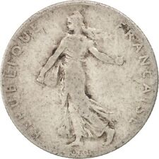[#415266] France, Semeuse, 50 Centimes, 1909, Paris, VF(20-25), Silver, KM:854