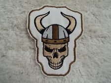 """Viking Skull 4"""" Embroidery Iron-on Patch (E23)"""