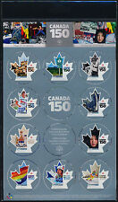Canada 2999 MNH Canada 150, Sports, Crest, Flag, Space