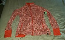 Moving Comfort REI orange stretchy running zip up track jacket size XL NWT