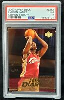 2003 Upper Deck RC Lakers Star LEBRON JAMES Rookie Card PSA 7  Low Total Pop 60