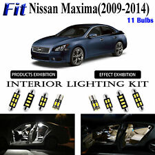 11pcs High Power White LED Interior Light Kit For Nissan Maxima 2009-2014 Lamps