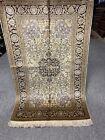 2.6X4FT Very Rare Handmade Ghoum Kashaan Design  high quality Pure Silk Kashmiri