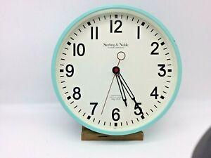 Sterling & Noble No. 9   10.5in Diameter Quartz Wall Clock TEAL