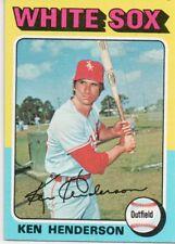 1975 Topps Mini #59 Ken Henderson Chicago White Sox Baseball (2018-0722)