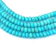 """Natural Turquoise Rondelle  6x4mm Beads - 15.5"""" strand"""