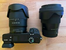 Sony Alpha a6400 Camera with E 18-135mm f/3.5-5.6 and Sigma 16mm f/1.4 (Mint)