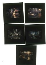5 Transparencies: 007 Stage with Submarines ,1977 James Bond Ken Adam Design