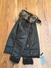 Denim Co _ size 8 niños/mujer abrigo chaqueta de bombardero de vuelo color LOOK de Gamuza Marrón