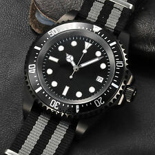 Parnis 42mm sterial Black Dial  Deepsea Style Automatic Movement Men Date Watch