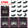 SKONHED 5 Pairs 3D Faux Mink Hair Thick Long False Eyelashes Extension Tools