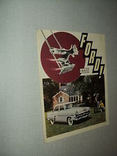CATALOGUE FORD 1953 MERCURY LINCOLN TAUNUS 12M VEDETTE ZEPHYR SIX